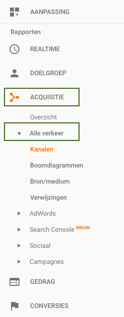 google-analytics-acquisitiekanalen